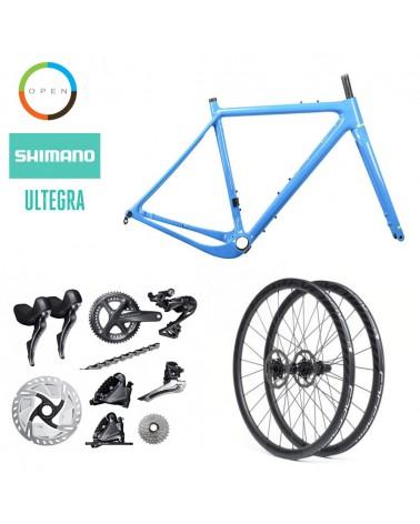 Bicicleta OpenCycle New U.P. Blue Shimano Ultegra R8000 700c Ruedas Speedsix