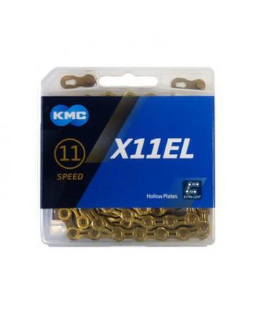 Cadena Kmc X11EL Ti-N Gold 11 Velocidades