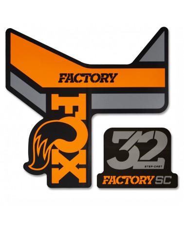 Adhesivos Fox 32 SC Factory Naranja/Negro 2018