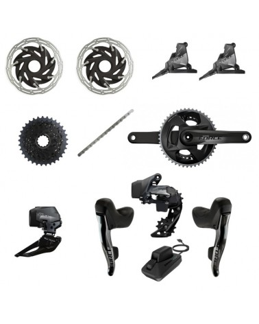 Grupo Completo Sram Force E-Tap AXS HDR 2x12 DUB Flat Mount