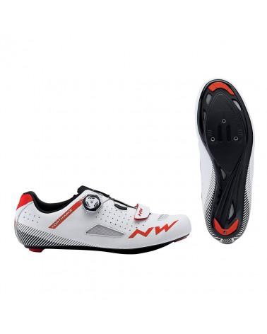 Zapatillas Carretera Northwave Core Plus Blanco/Rojo