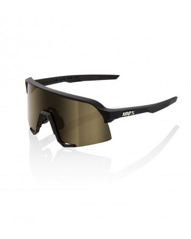 Gafas 100% S3 Soft Tact Black - Lente Soft Gold