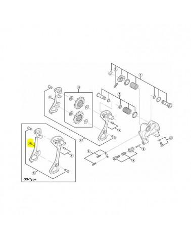 Portapoleas  Shimano interior RD-6800/6700 GS