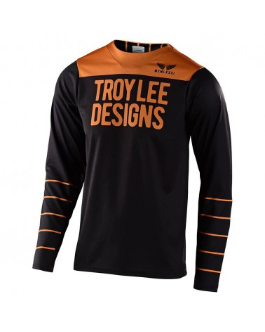 Maillot Troy Lee Designs Skyline Pinstripe Black/Gold