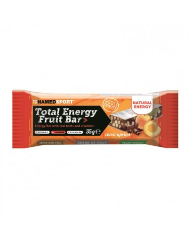 Barrita Namedsport Total Energy Fruit Choco Apricot 35grs.