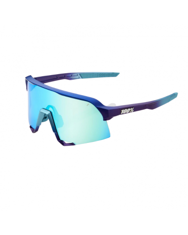 Gafas 100% S3 Matte Metallic Into the Fade- Blue Topaz  Lente Multilayer Mirror Lens