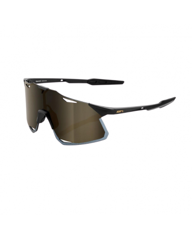 Gafas 100% Hypercraft - Matte Black - Lente Soft Gold Mirror