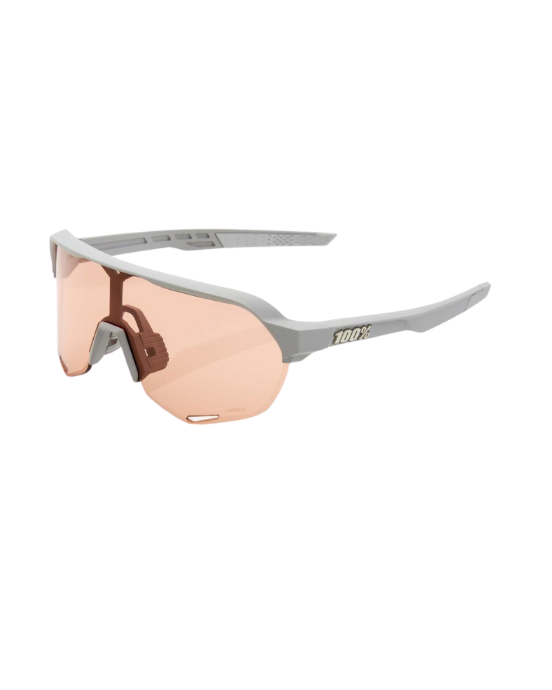 Gafas 100% S2 - Soft Tact Stone Grey - Lente Hiper Coral