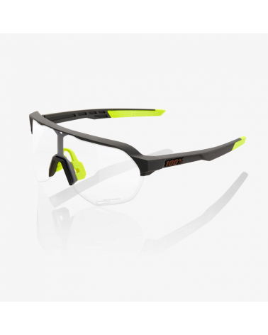 Gafas 100% S2 - Soft Tact Cool Grey - Lente Photochromic