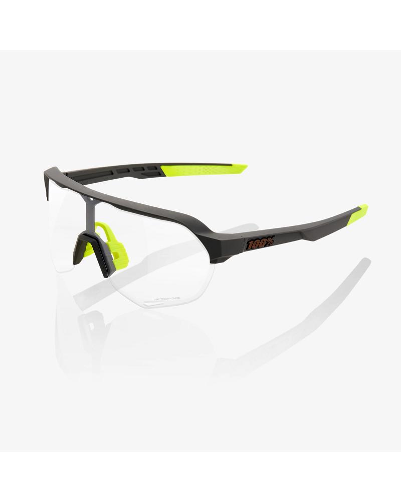 Gafas 100% S2 - Soft Tact Cool Grey - Lente Photochromic