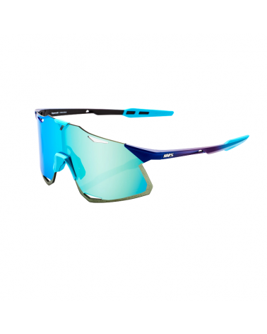 Gafas 100% Hypercraft - Matte Metallic Into the Fade- Blue Topaz Lente Multilayer Mirror Lens