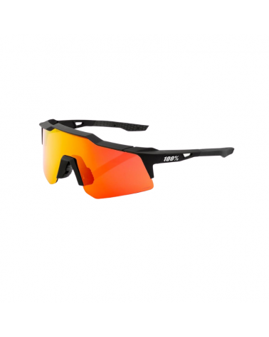 Gafas 100% Speedcraft XS - Soft Tact Black - Lente HiPER Red Multilayer Mirror