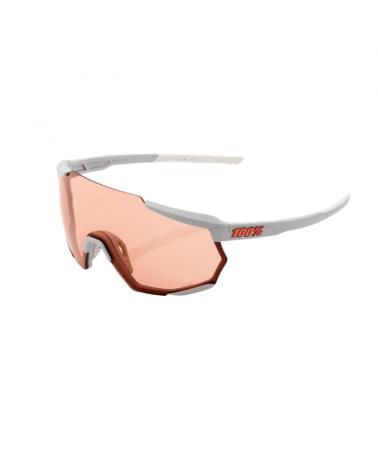 Gafas 100% Racetrap - Soft Tact Stone Grey - Lente Hiper Coral