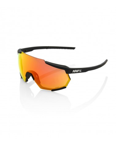 Gafas 100% Racetrap - Soft Tact Black - Lente HiPER Red Multilayer Mirror