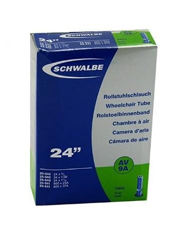 "Cámara de aire Schwalbe 24"" valvula schrader"