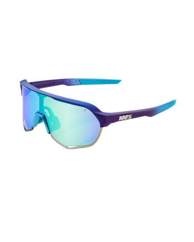 Gafas 100% S2 - Matte Metallic Into the Fade- Blue Topaz Lente Multilayer Mirror Lens