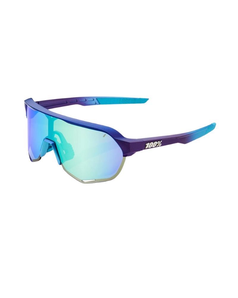 Gafas 100% S2 - Matte Metallic Into the Fade- Blue Topaz Lente Multilayer Mirror Lens