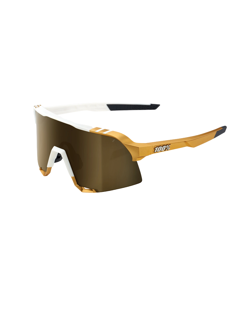 Gafas 100% S3 Peter Sagan Limited Edition White Gold Soft Gold Mirror Lens + Clear Lens