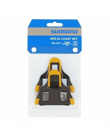 Calas Shimano SPD-SL SH11 amarillas 6 Grados