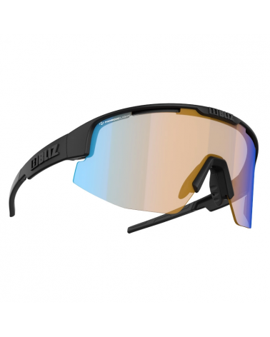 Gafas Bliz Matrix Small Nano Nordic Light Black Matt Coral Amber w blue multi