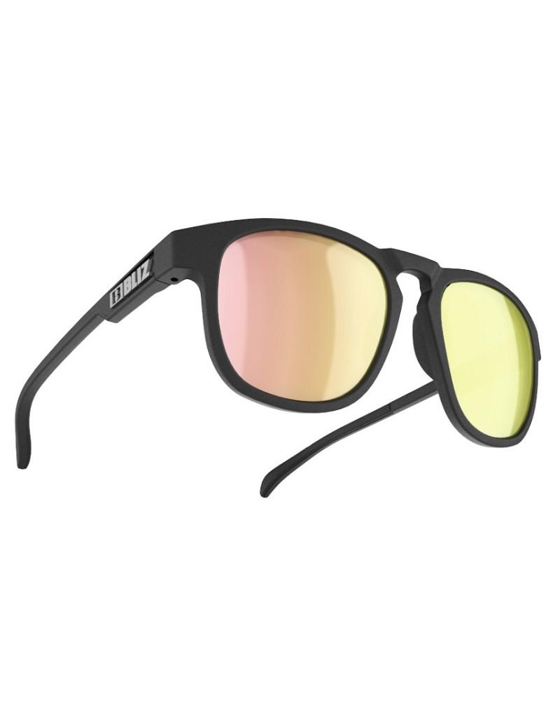 Gafas Bliz Ace Black Lens Smoke w rose-gold multi