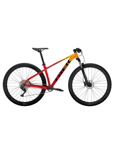 Bicicleta Trek Marlin 7 2022 Marigold to Radioactive Red Fade
