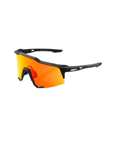 Gafas 100% Speedcraft Soft Tact Black - Lente HiPER Red Multilayer Mirror